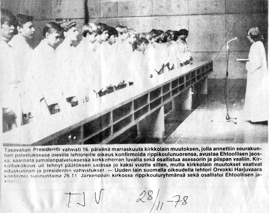 konfirmaatio 16.11.1978