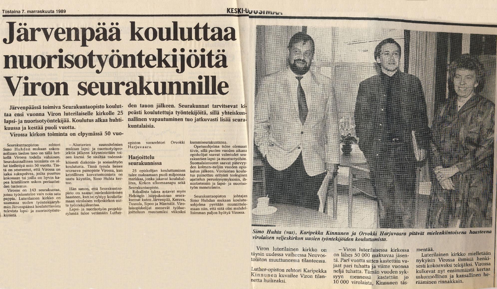 Viro-projekti toteutetaan Järvenpäässä